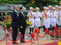 grand welcome ceremony for president obama