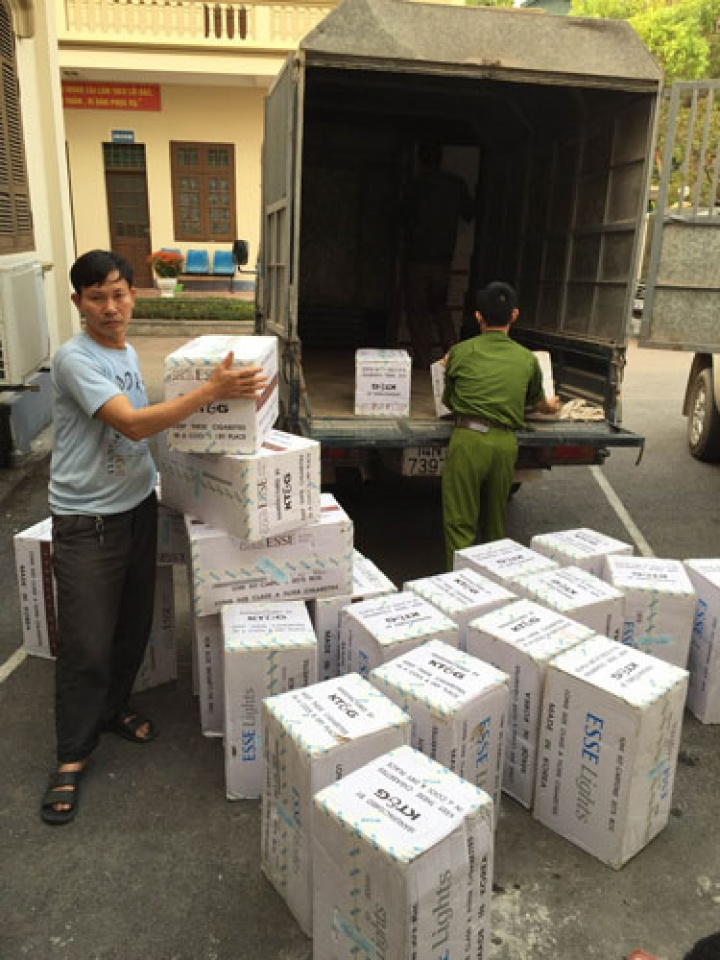 cigarette smuggling a burning issue on the sea area of quang ninh province