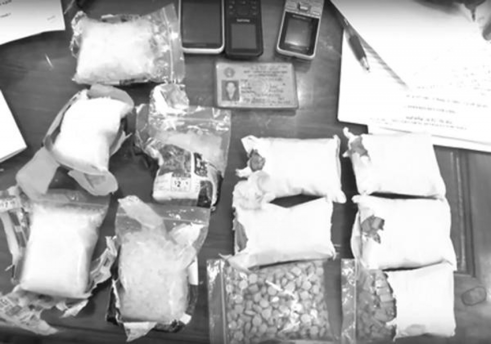 drug trafficking through tay ninh border gate warming