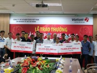 vietlott jackpot awarded 3 prizes with a total value of more than 1268 billion vnd