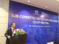 welcome speech from director general of vietnam customs mr nguyen van can at sccp 1 in nha trang 21 2322017