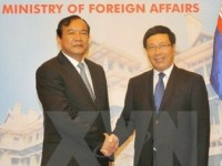 vietnamese cambodian foreign ministers confer on sea disputes