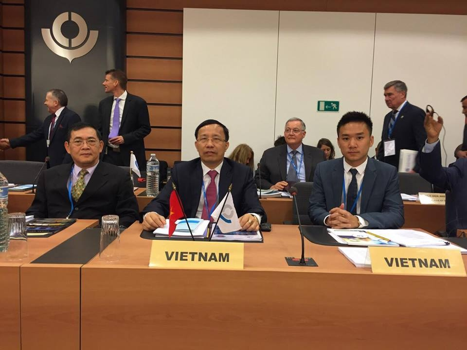 the general director of vietnam customs mr nguyen van can is attending the 127th128th session of wco