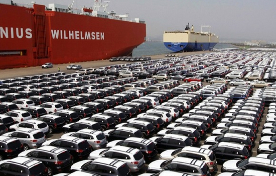 606 thousand cars were imported into vietnam in the first of 7 months of 2016