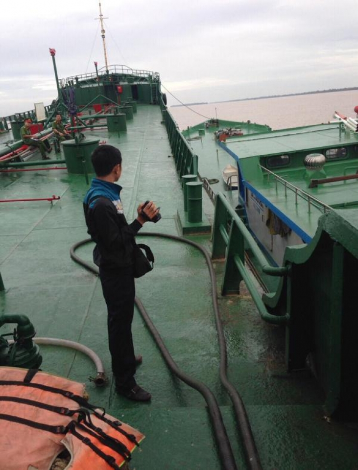 process of seizing two ships transporting illicit petroleum