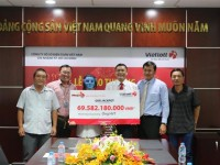 vietlott awards a jackpot prize of 70 billion vnd