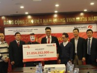 vietlott awarded jackpot to a customer from hanoi