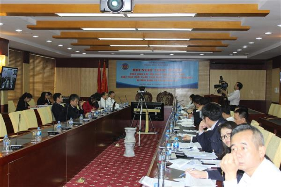 online seminar on amending and supplementing law on import export duty
