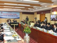 vietnam customs holds an online conference on work performance of the first quarter 2017