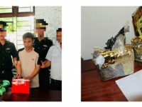 ha tinh customs arresting a trafficker with 2 kgs of methamphetamine