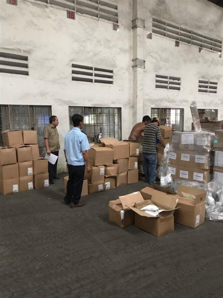 seizing a shipment of supplementary foods imported from china