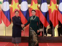 lao na chair visits hanoi with parliamentary delegation