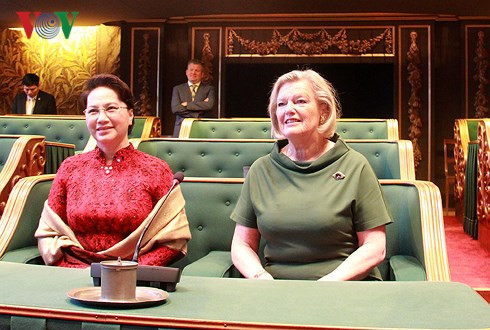 na chairwoman holds talks with president of the senate of the netherlands