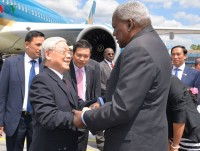 party leader trong begins state visit to cuba