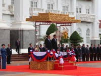 in photos pm phuc welcomed in laos