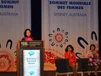 vice president gives speech at global summit of women in sydney