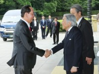 japanese emperor holds official welcoming ceremony for president quang