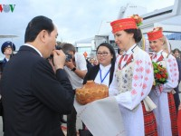 president quangs belarus visit in pictures