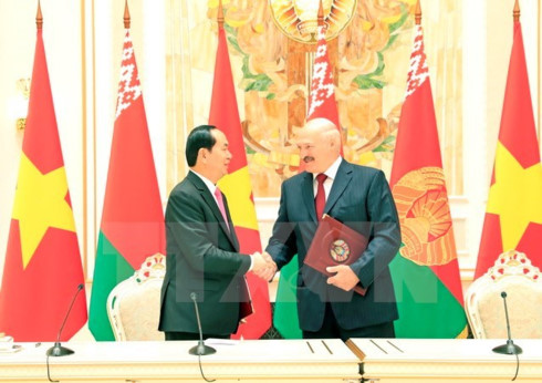 vietnam belarus issue joint statement to develop all around partnership