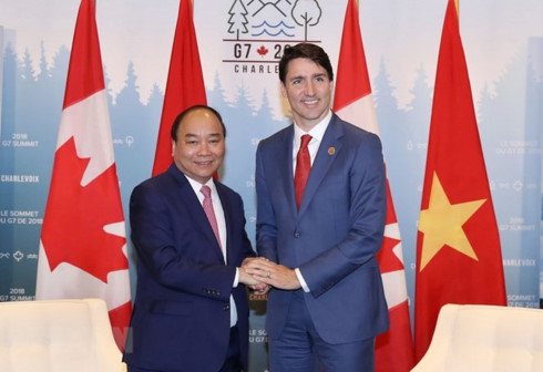 vietnamese canadian pms agree on measures to boost ties