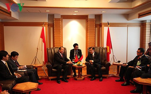 deputy pm meets japanese officials indonesian vice president