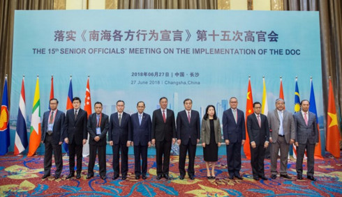 asean china urge trust building measures in doc implementation