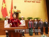 nguyen thi kim ngan re elected as 14th na chairwoman