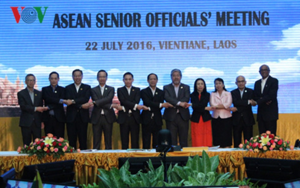 49th asean foreign ministers meeting opens in vientiane