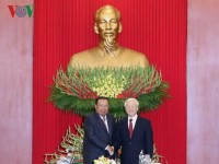 vietnam laos affirm strategic importance of all around cooperation