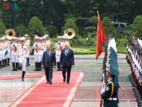 in photos vietnam welcomes turkish prime minister