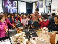 in photos black friday hits aeon mall long bien in hanoi