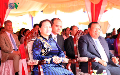 construction of lao na house begins in vientiane
