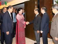 top vietnamese legislator meets singaporean businesses