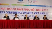 deputy fm hosts press briefing on isom apec meeting