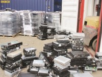 handling 63 containers of waste products for import avoidance benefit