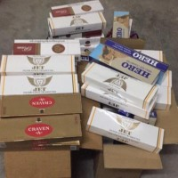 long an customs seized 1230 packs of smuggled cigarettes