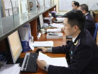 quang ninh customs receive documents on online public services