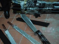 discovery a case of illegal import primitive weapons
