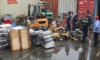 seized a container of used machine at cat lai port