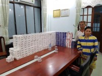 2440 packs of smuggled cigarette were seized by moc bai customs