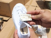 seized fake converse shoes in transit shipment again