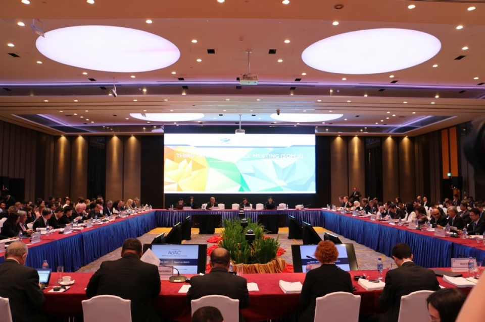 the third senior officials meeting som3 has openned in hcm city