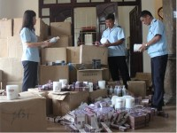 seizing thousands of smuggled cosmetic products