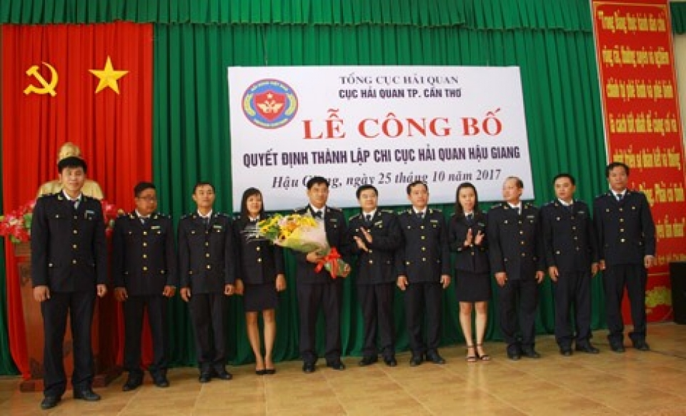 deploying operation of hau giang customs branch