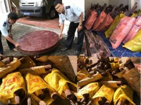 seizing more than 43 tons of techicai sitan transporting illegally cross border in dong thap