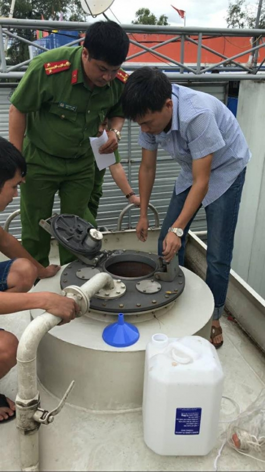 nghe an handling 80 operations making mistakes in operating petrol