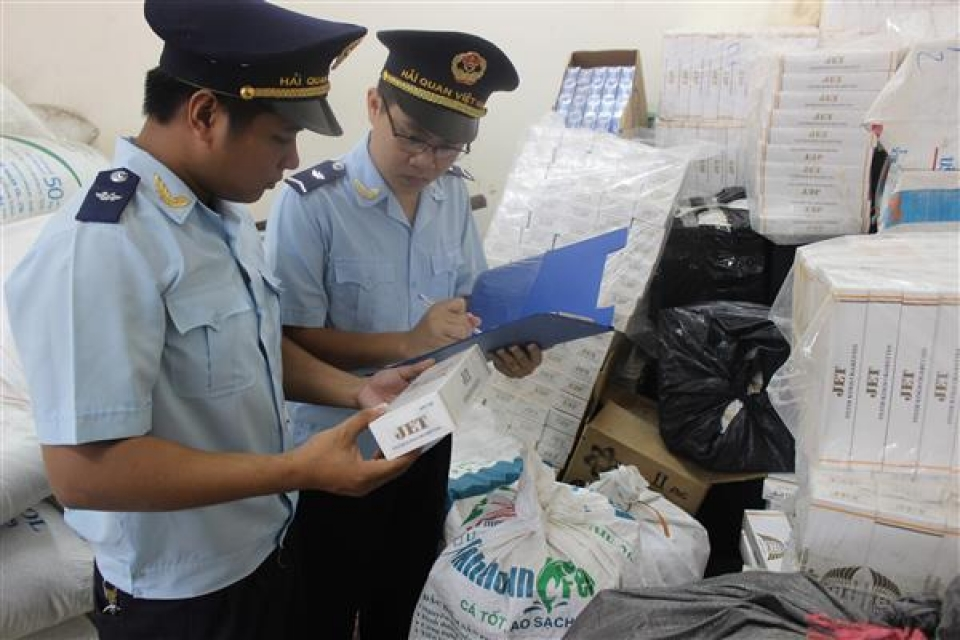 seizing nearly 21 million packs of smuggled cigarettes in the whole country